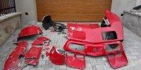 oprava sklolaminátu automobilu